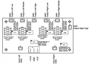 Active Crossover PD-ACR1CH3V201. Connect