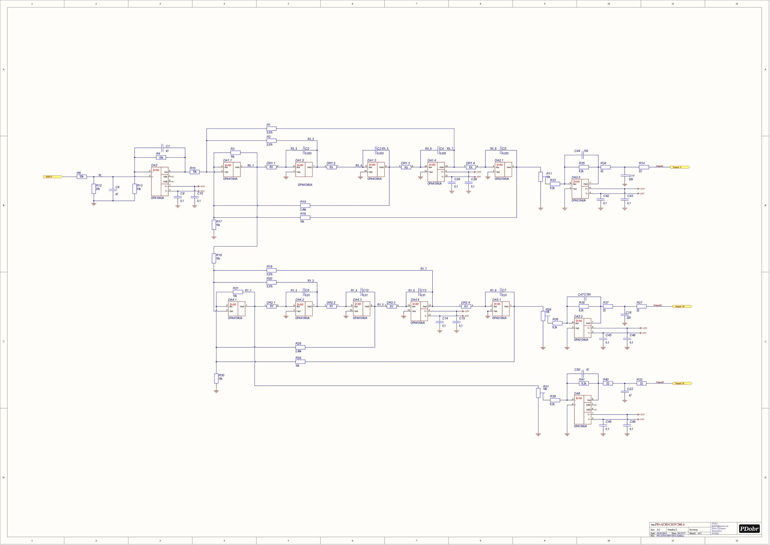 Кроссовер для акустики схема
