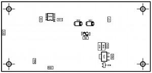 Усилитель PD-LM3886-IV2.  Позиции деталей снизу.