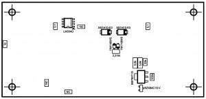 Усилитель PD-LM3886-IV2.  Типы деталей снизу.