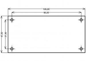 Усилитель PD-LM3886-IV2. Размеры ПП.
