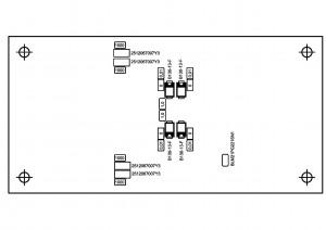 Усилитель  PD-TPA3004D. Типы деталей снизу.