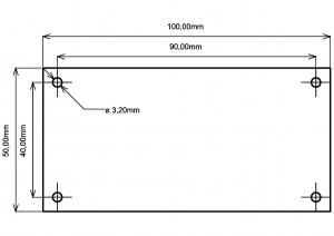Усилитель  PD-TPA3004D. Размеры печатной платы.