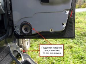 Изготовление подиумов в передние двери УАЗ «Патриот»